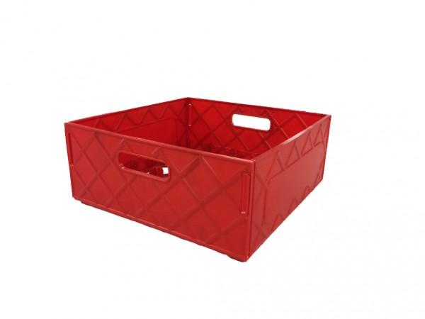 Transportkiste / Lagerkiste rot, für 25 Gläser - Maße siehe Beschreibung