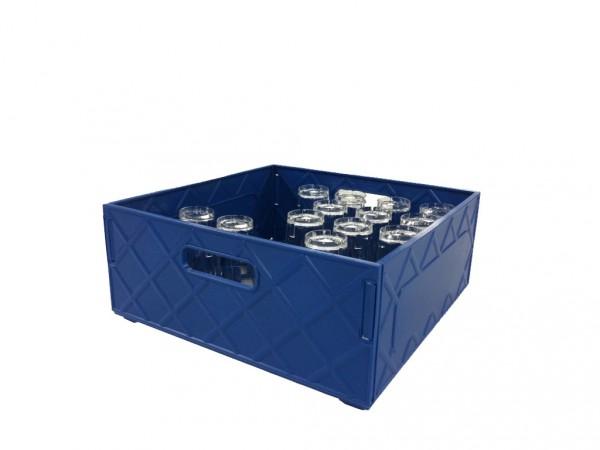 Kiste blau für Trinkgläser 0,3l - 25 Gläser je Box